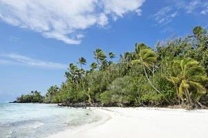 paisagem da ilha de rapota nas ilhas cook de aitutaki lagoa