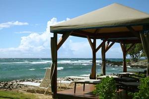 gazebo no resort de praia