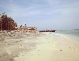 fundo de praia vintage foto
