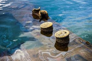 uss arizona, afundado em pearl harbour foto
