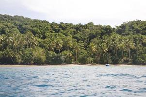 praia isolada. foto