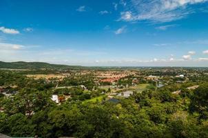 paisagem vista na montanha com céu