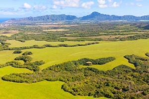 vista de kauai de helicóptero foto