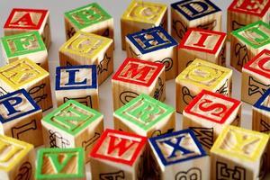 closeup de blocos abc foto