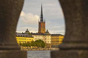 vista da catedral, estocolmo, suécia foto