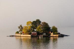 ilhas suecas perto de estocolmo foto
