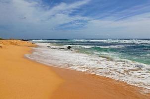 praia arenosa foto