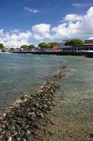 vista da rua da frente de lahaina, maui, havaí foto