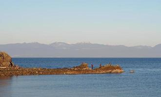 lagoa de gaiteiros em nanaimo, ilha de vancouver, colúmbia britânica, canadá