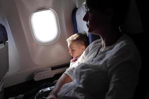 família no vôo foto