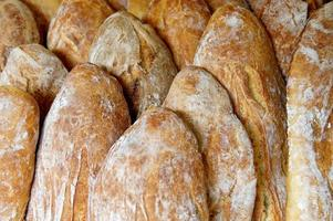 pão francês de tamanho familiar grande foto
