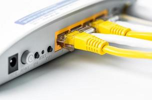 hub de rede do roteador de modem foto