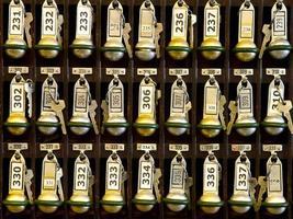 porta-chaves da recepção do hotel. foto