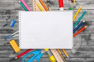 mesa, escola, plano de fundo foto