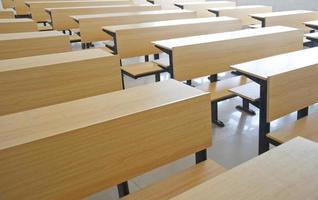 assentos de sala de aula foto