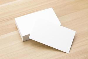 cartão de visita na mesa