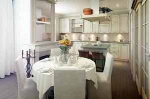 interior da cozinha provence foto