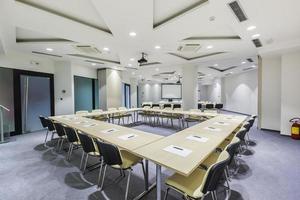 design moderno da sala de conferências foto
