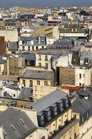 telhados em paris foto