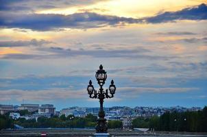poste de luz em paris foto
