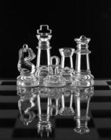 família de xadrez de vidro foto