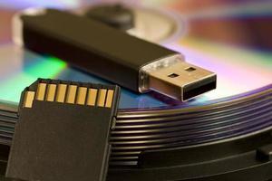 cd, usb, cartão sd foto