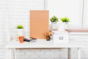 espaço de trabalho elegante em casa foto