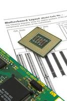 CPU e placa foto