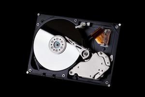disco rígido em preto foto