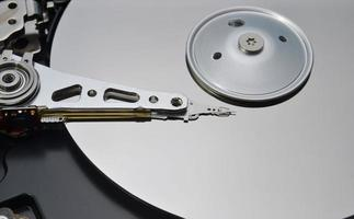 closeup de disco rígido foto