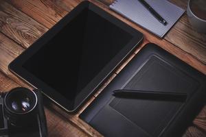gráfico e touch pad foto