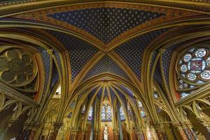 la sainte chapelle, paris, frança foto