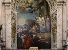 interiores da igreja de saint roch, paris, frança