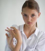menina retrato foto