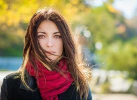 retrato de outono. foto