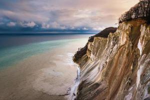 os penhascos em mons klint, dinamarca