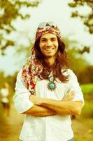 retrato de hippie