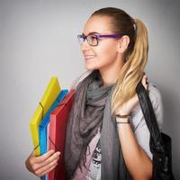 retrato de menina estudante
