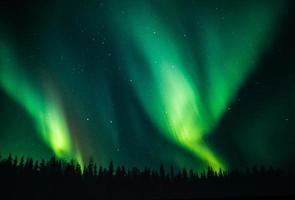 casal luzes do norte foto
