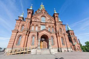 catedral ortodoxa em helsínquia foto