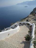 escada para o mar
