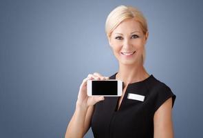 mulher de negócios atraente foto
