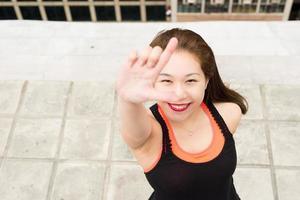 sorrindo menina asiática foto