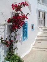 arquitetura tradicional da vila de oia na ilha de santorini, gre