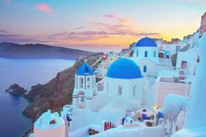 oia, vila grega tradicional foto