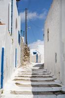 arquitetura nas cicladas. edifícios da ilha grega. foto