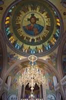 pintura religiosa na igreja ortodoxa, santorini foto