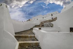 arquitetura das cíclades, santorini, grécia foto