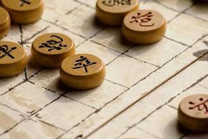 jogo de xadrez chinês foto