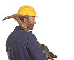 retrato trabalhador foto